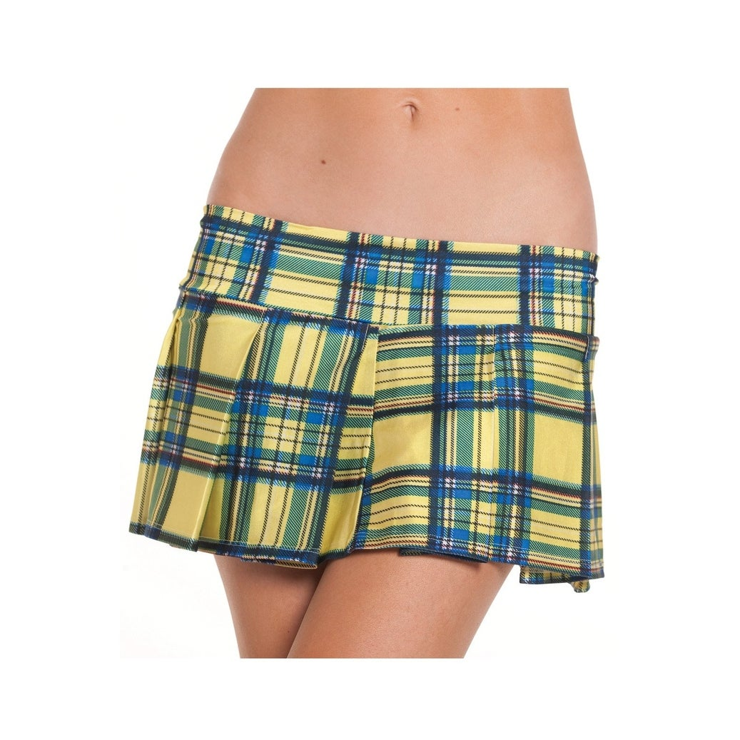 d8f44a48d36da Shop School Girls BW830YW Yellow Plaid Skirt - Color - Yellow - Size -  Medium Large - Free Shipping On Orders Over  45 - Overstock - 25353016