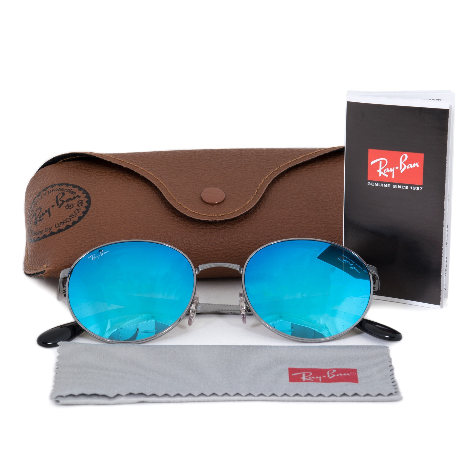 01c8cbd905c5e Shop Ray-Ban Round Sunglasses RB3537 00455 51