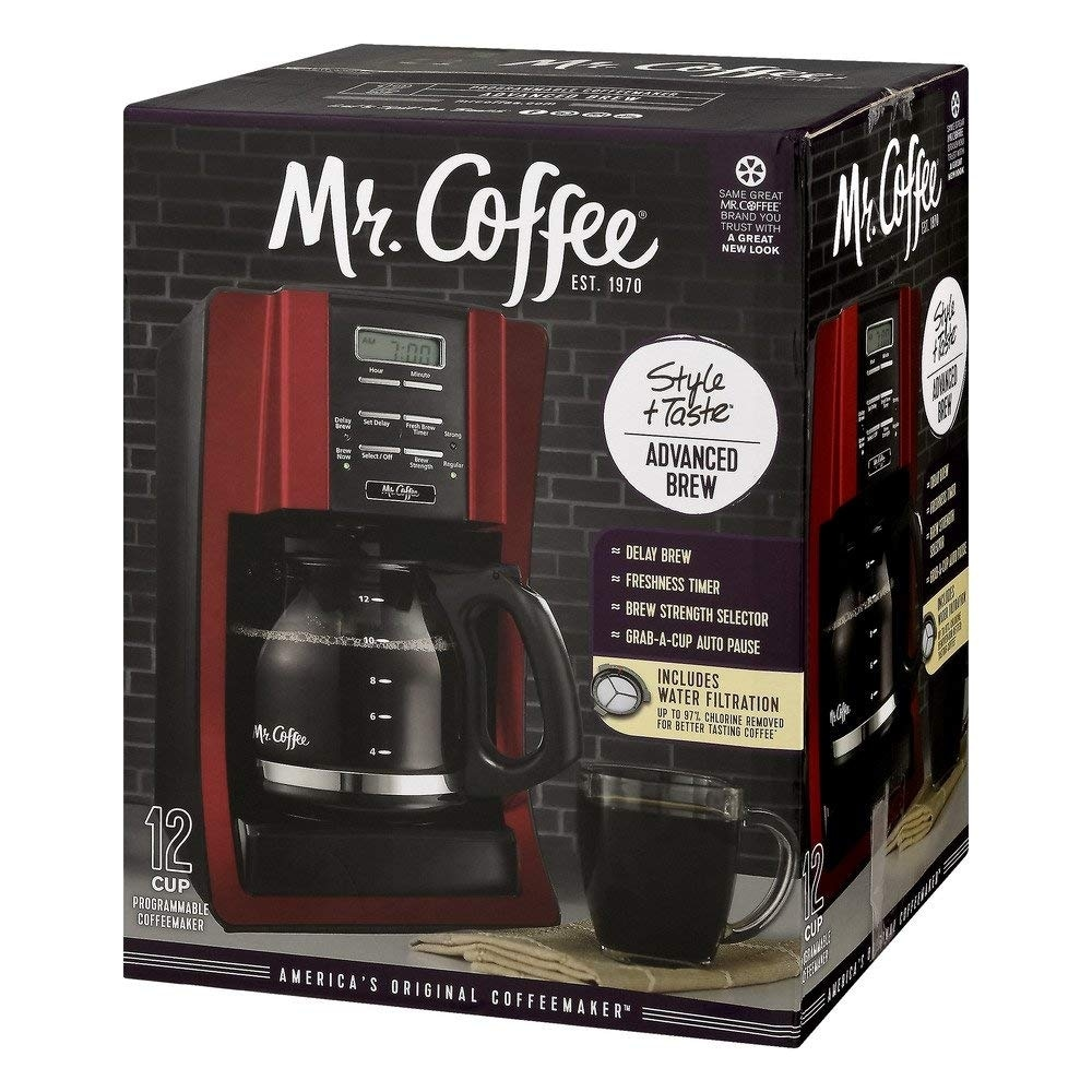 Shop Mr Coffee Brewing Coffee Maker Style Taste 12 Cup Advanced