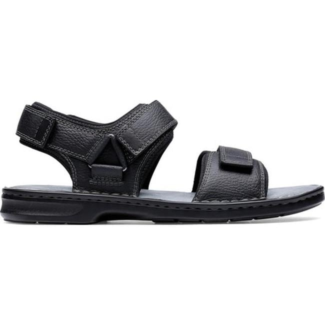 f1a5e9bf8cc Shop Clarks Men s Malone Shore Walking Sandal Black Tumbled Full Grain  Leather - Free Shipping Today - Overstock - 27346894