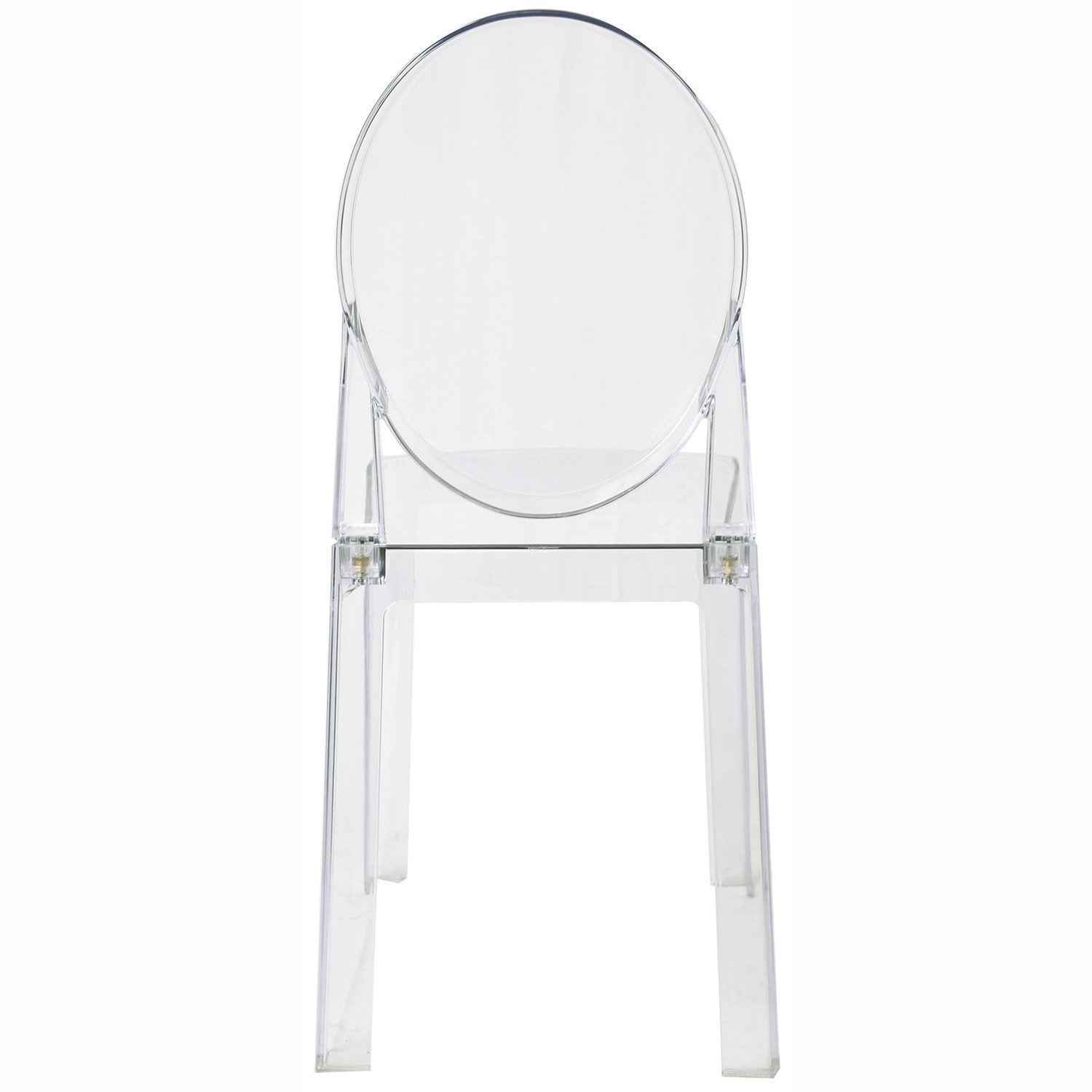 Shop 2xhome   Set Of 4, Clear Plastic Chairs Polycarbonate Arcylic Armless  Side   Free Shipping Today   Overstock.com   14031658