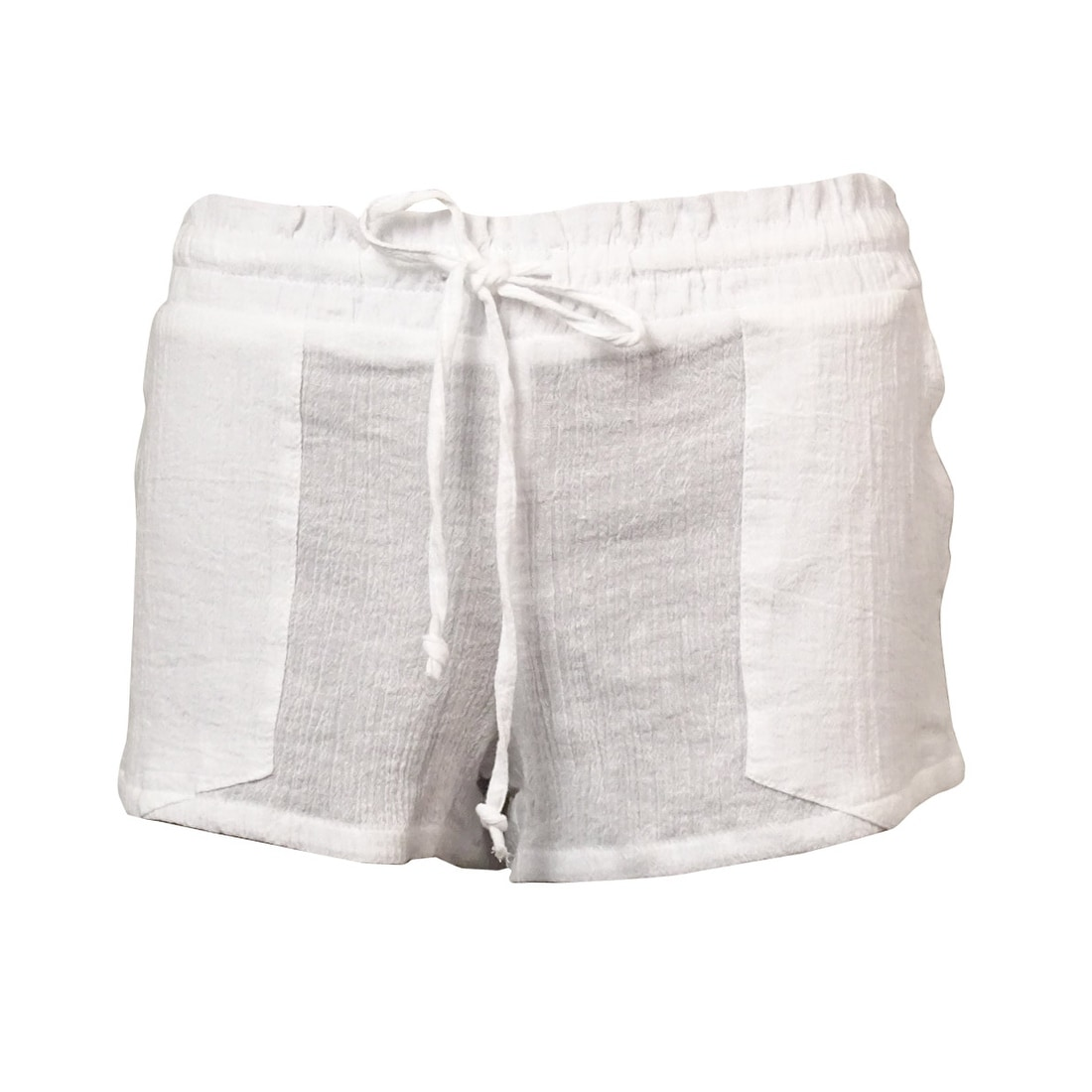 0dd3886ebc Shop Miken Women's Crinkled Cotton Pocket Swim Cover Shorts - On Sale - Free  Shipping On Orders Over $45 - Overstock.com - 14681230