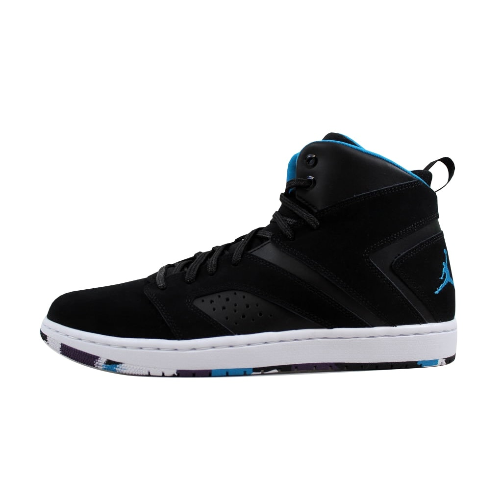 bac57efeb246 Shop Nike Men s Air Jordan Flight Legend Black Blue Lacquer-White  AA2526-005 - Free Shipping Today - Overstock - 21893598