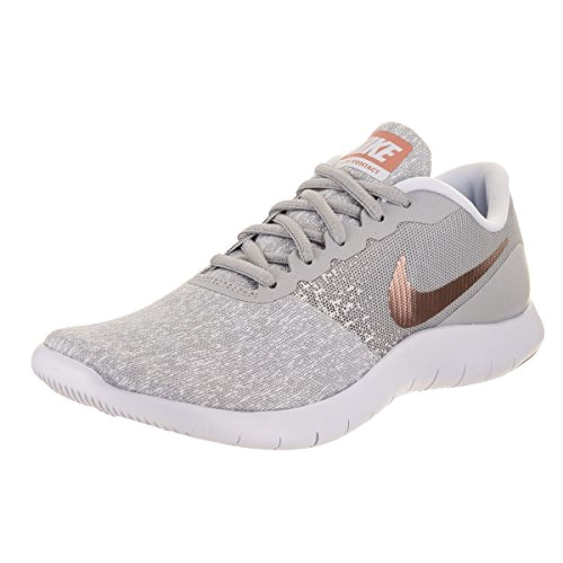 428766171ad67 Shop Nike Women s Flex Contact Running Shoe Wolf Grey Metallic Rose Gold  (7.5 B(M) Us) - Free Shipping Today - Overstock - 25661930