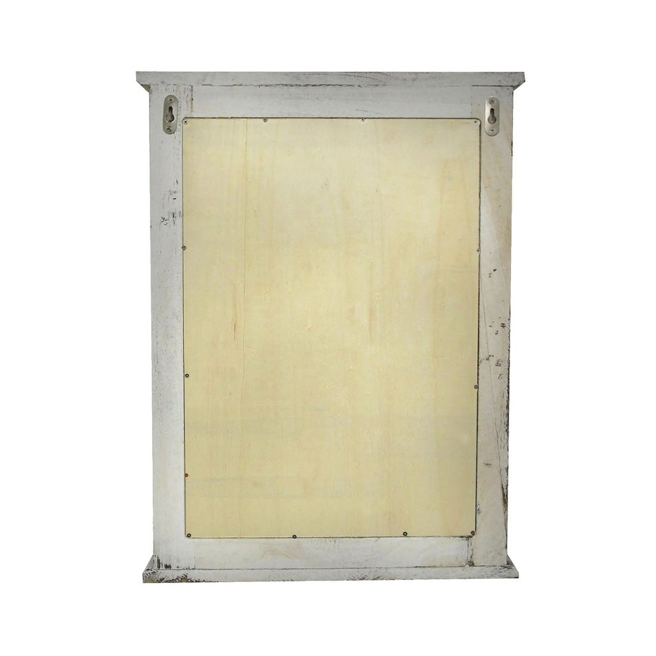 Shop Distressed Finish White Wooden Shutter Wall Mirror - On Sale ...