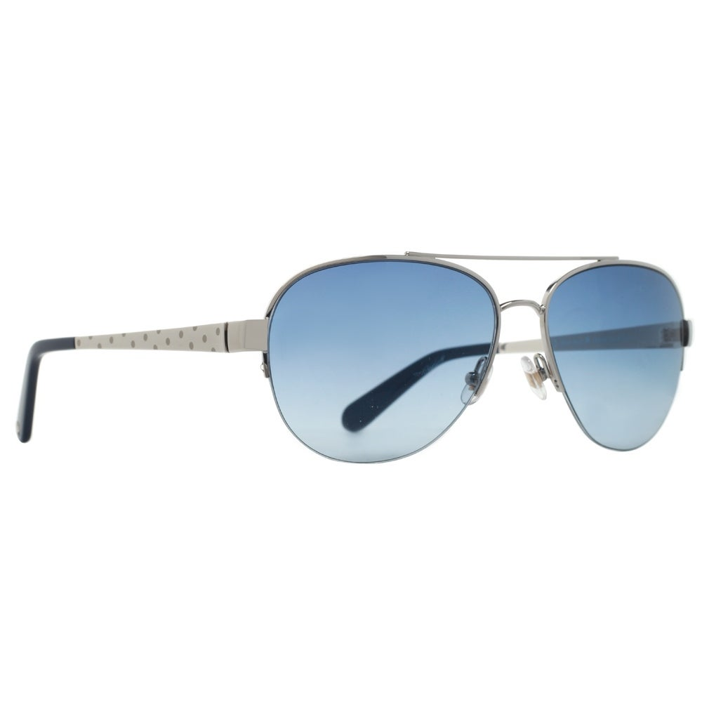 4d2875b596c Shop KATE SPADE Aviator KS MARION S Women s 0YB7 A8 Silver Blue Sunglasses  - 57mm-15mm-135mm - Free Shipping Today - Overstock.com - 13880793