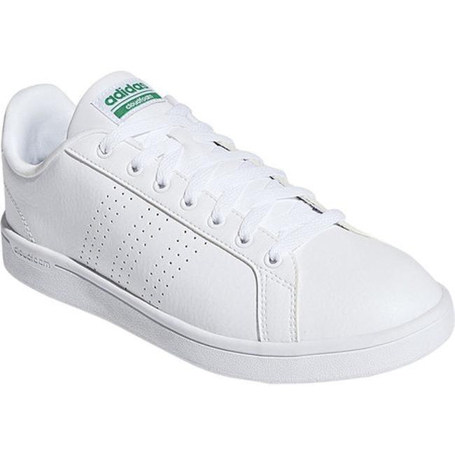 6192434a3181 adidas Men s NEO Cloudfoam Advantage Clean Court Shoe FTWR White FTWR  White Green