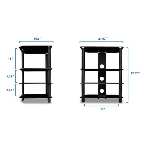 Shop Mount It! TV Media Stand, Glass Shelves, Audio Video Components Storage    On Sale   Free Shipping Today   Overstock.com   18228127