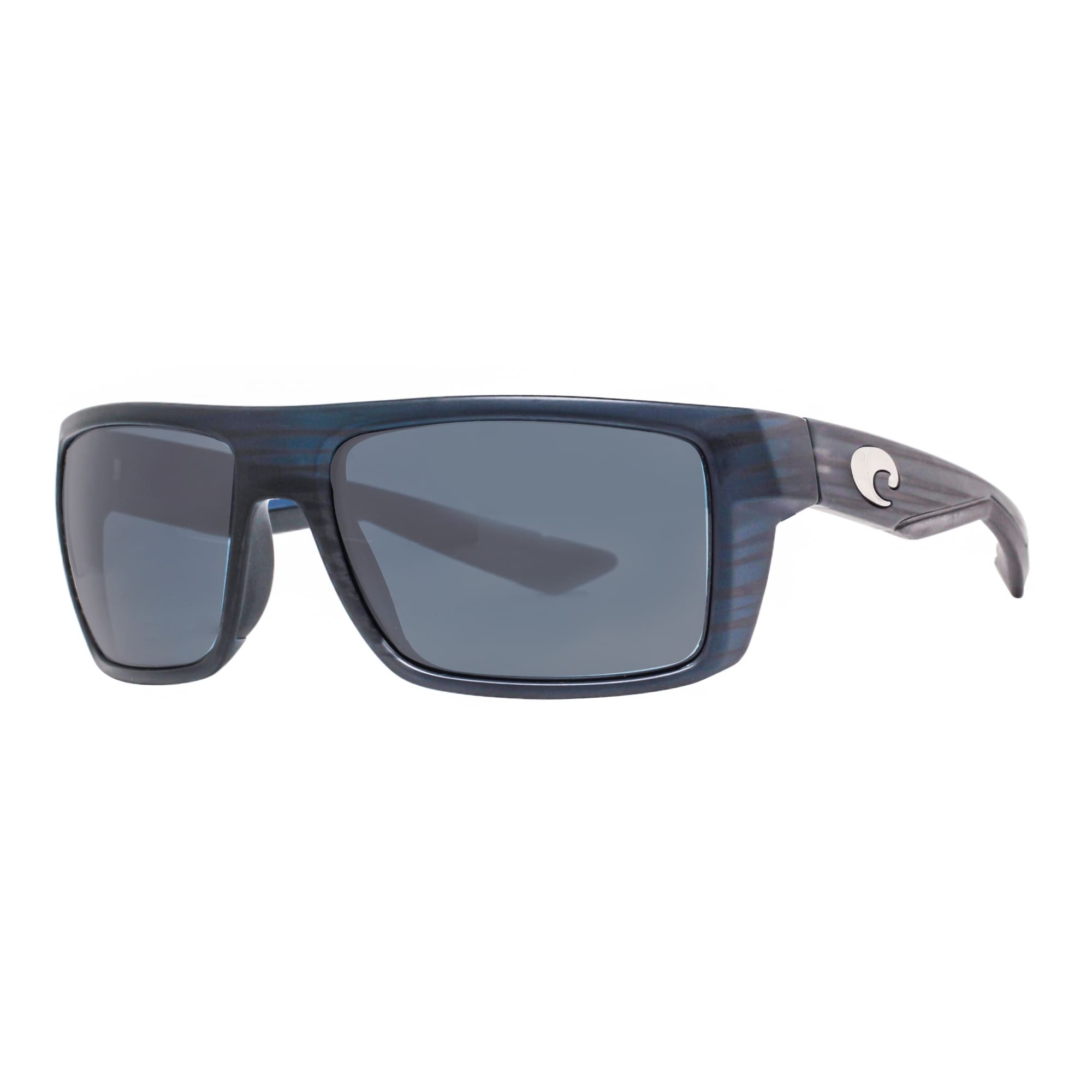bffbf2b7c0af Costa Del Mar Motu MTU111OGP Matte Black Teak 580P Gray Polarized Sunglasses  - matte black teak - 57mm-18mm-120mm