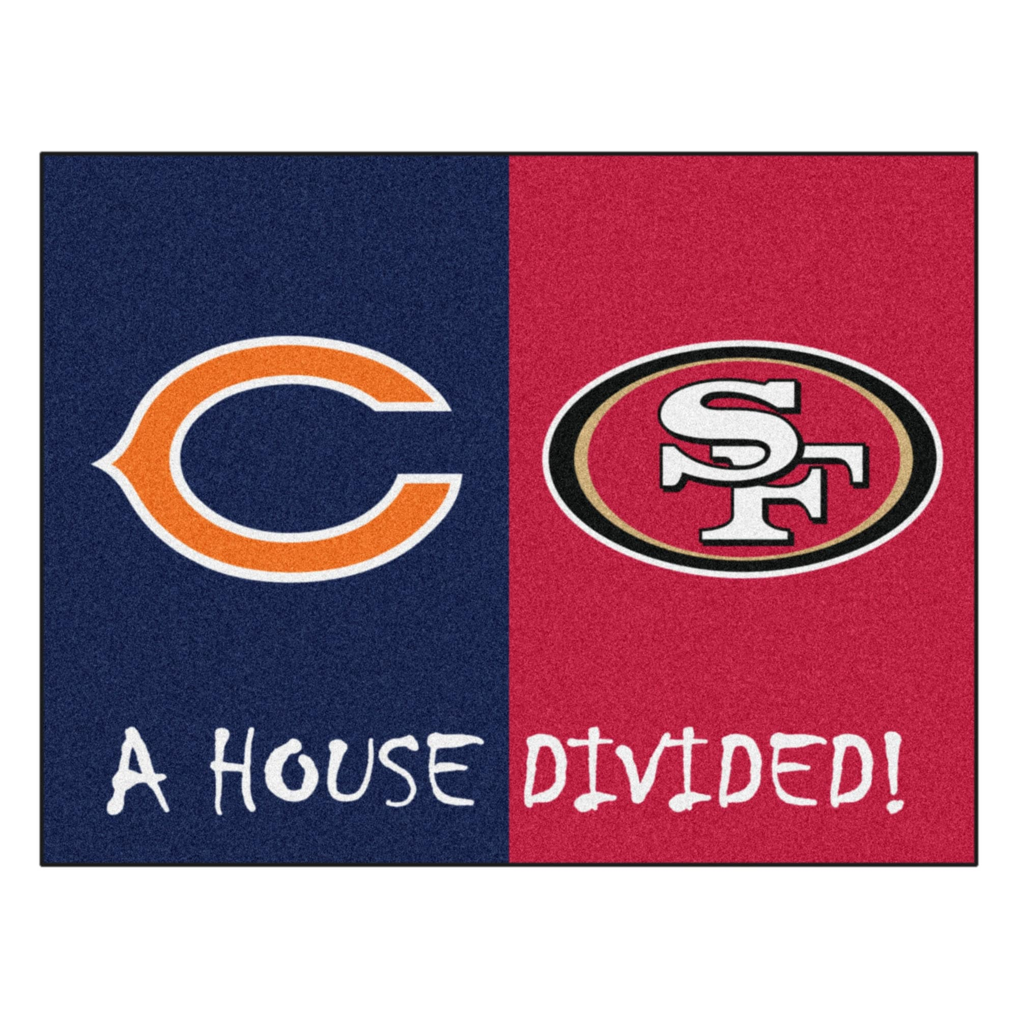 hot sale online 4860f 23377 Shop NCAA House Divided - Bears   49ers House Divided Non-Skid Mat  Rectangular Area Rug - Free Shipping Today - Overstock - 22622080