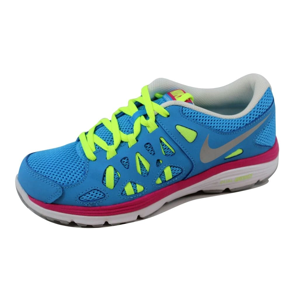 d802fa4ce Shop Nike Dual Fusion Run 2 Vivid Blue/Metallic Silver-Volt 599793-401  Grade-School - Free Shipping Today - Overstock - 20617789