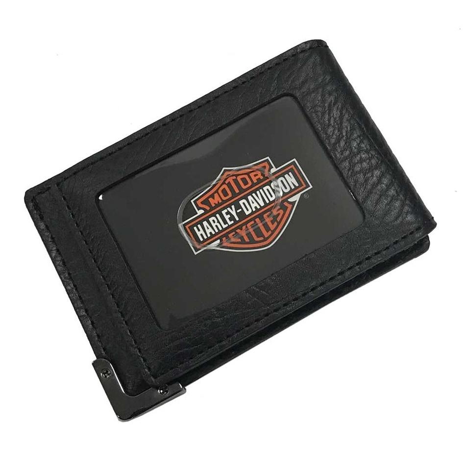 Harley-Davidson Men\'s Gunmetal Leather ID Cards Front Pocket Wallet ...