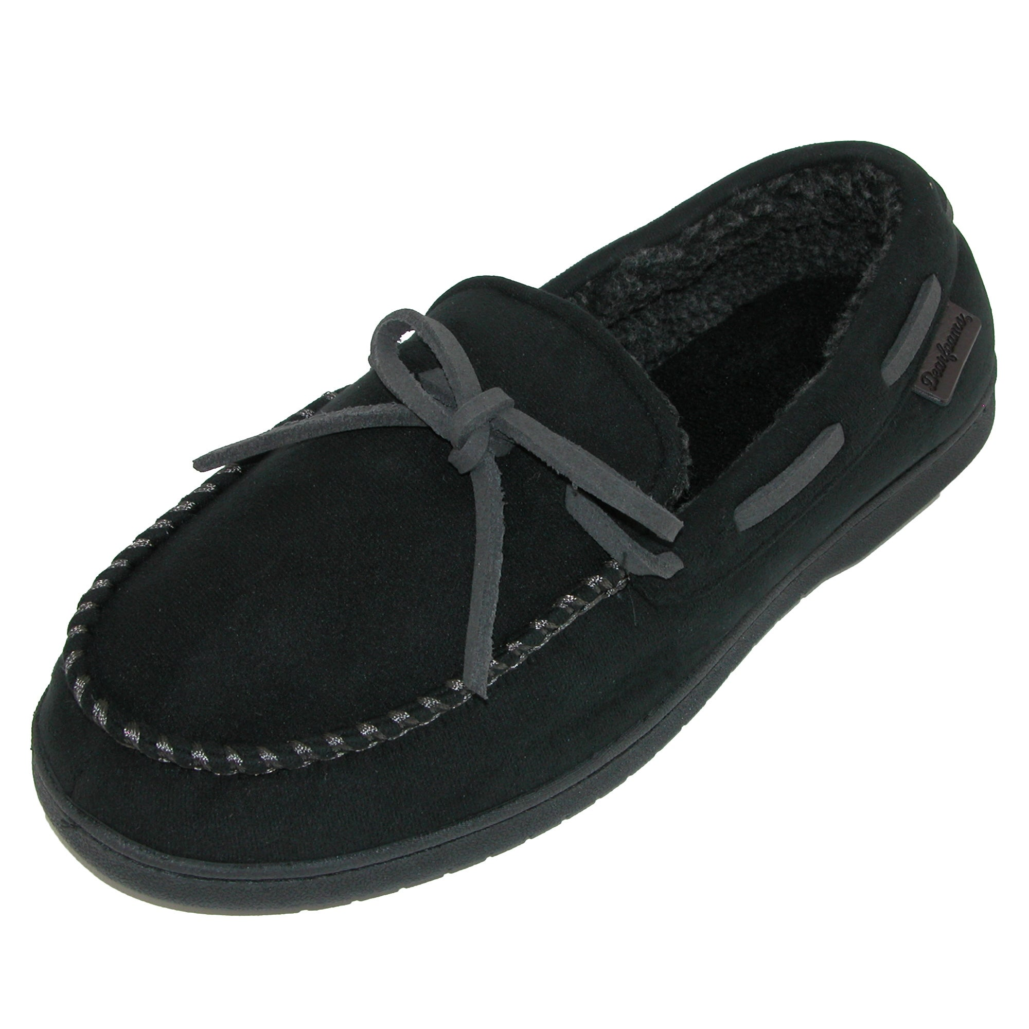 18b248381c3ed Shop Dearfoams Men's Microfiber Suede Moccasin Slipper with Whipstitch -  Ships To Canada - Overstock - 18158289