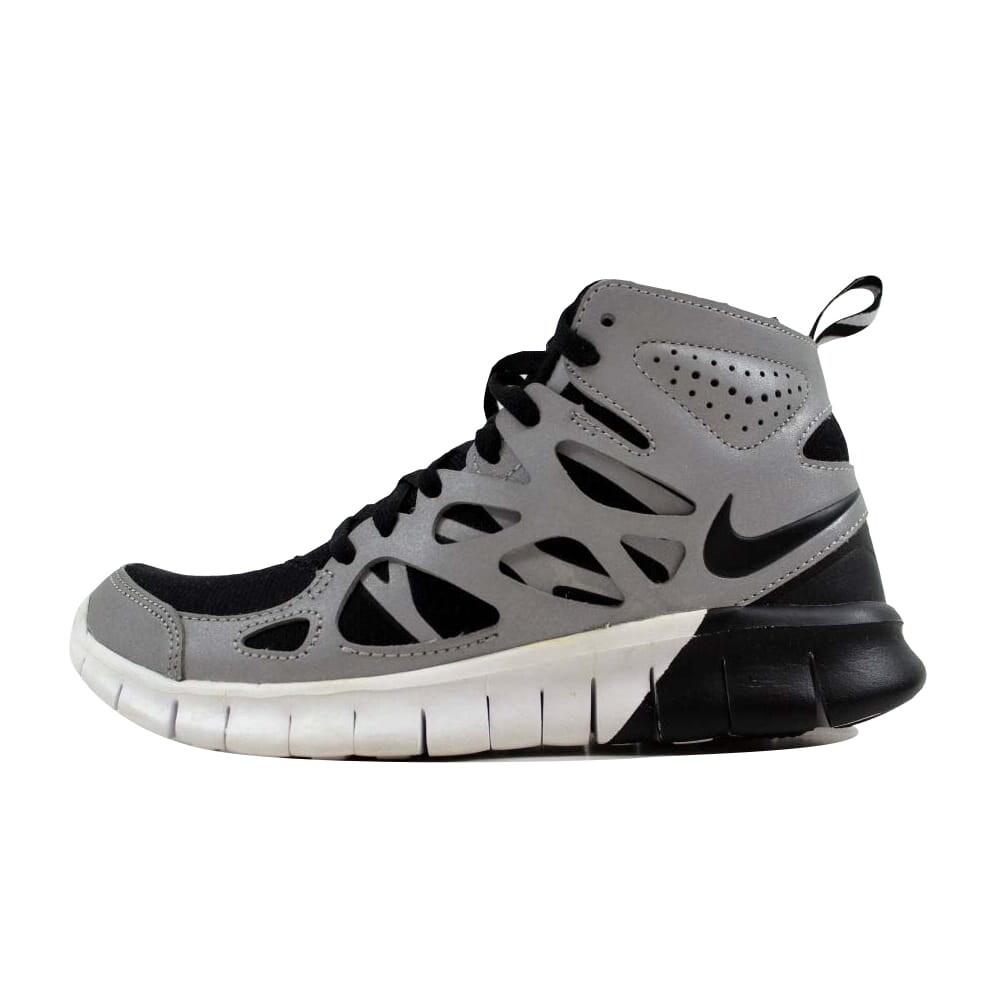 online store dbb44 e1042 Shop Nike Women s Free Run 2 Sneakerboot Premium Black Black-Metallic Silver -White Size 5.5 - Free Shipping Today - Overstock.com - 22531354