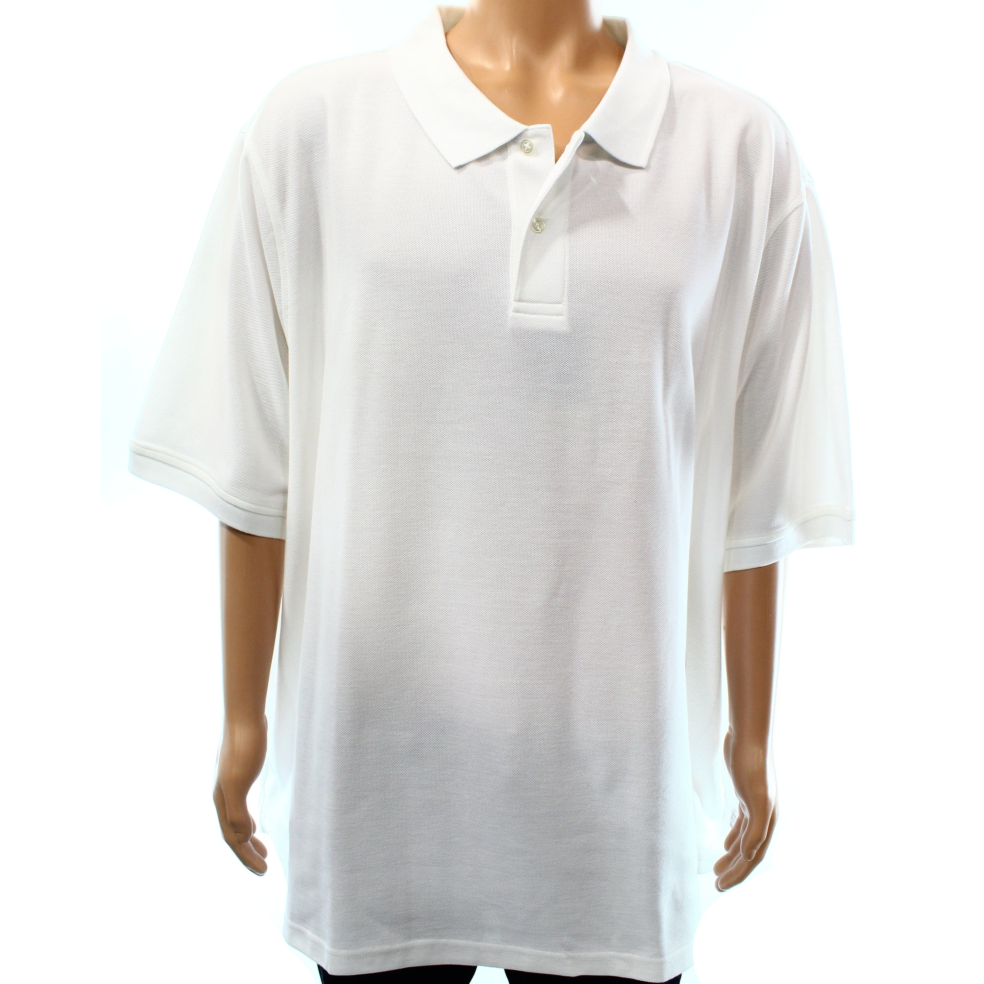 Shop Club Room New Bright White Mens Size 3xlt Short Sleeve Knit
