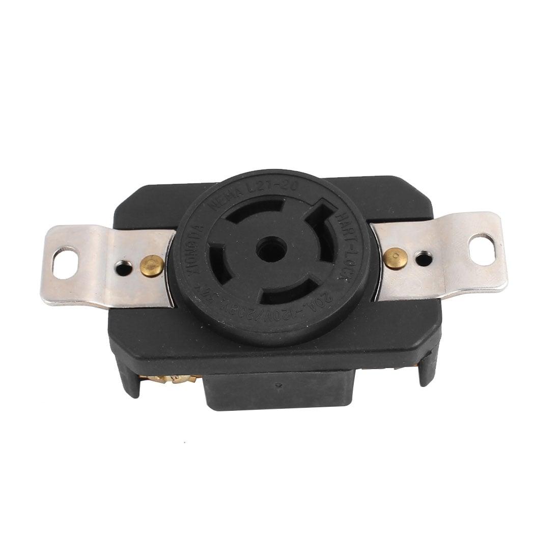 Shop 120V/208V 20A 5 US Socket Locking Device Receptacle Industrial ...