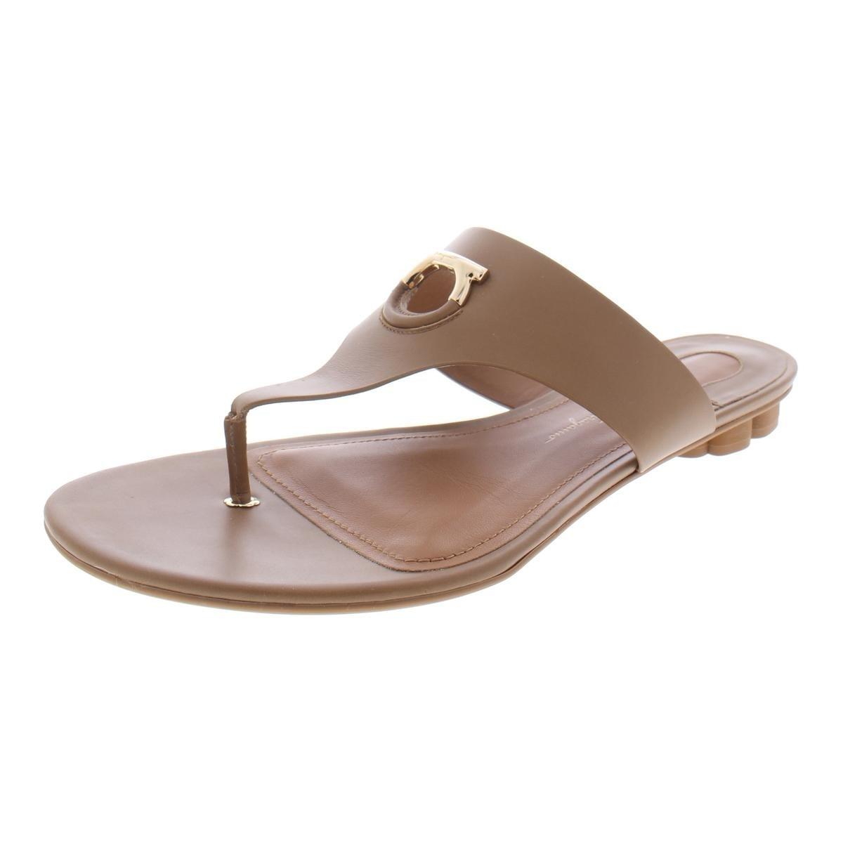 0aa7ebd2166 Salvatore ferragamo womens enfola thong sandal thong sandals metal trim jpg  1200x1200 Ferragamo womens pool sandals
