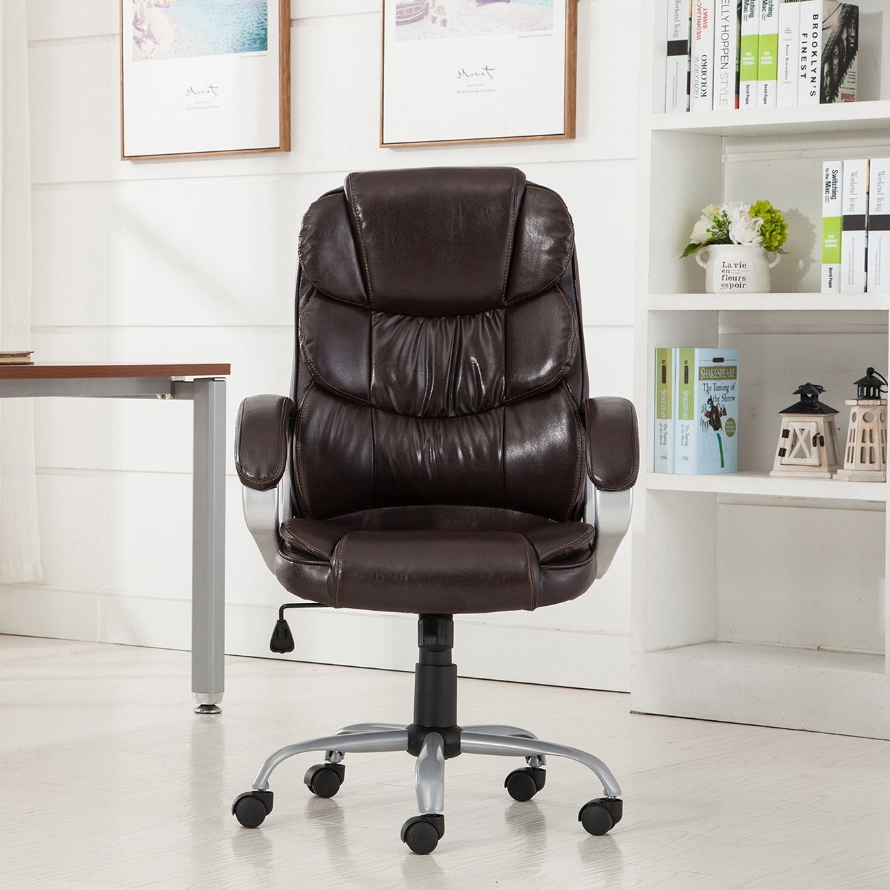 Belleze Executive Office Chair Ergonomic Padded Armrest Computer Desk Mocha Free Shipping Today 16262320
