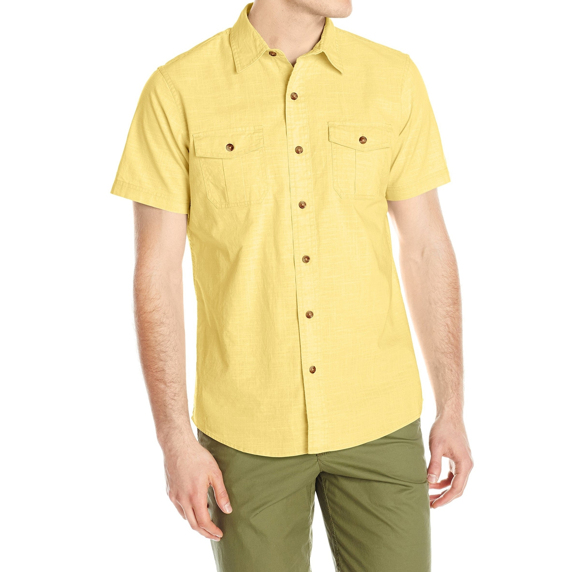 d2a43330a0bc Mens Yellow Button Down Dress Shirt - Cotswold Hire