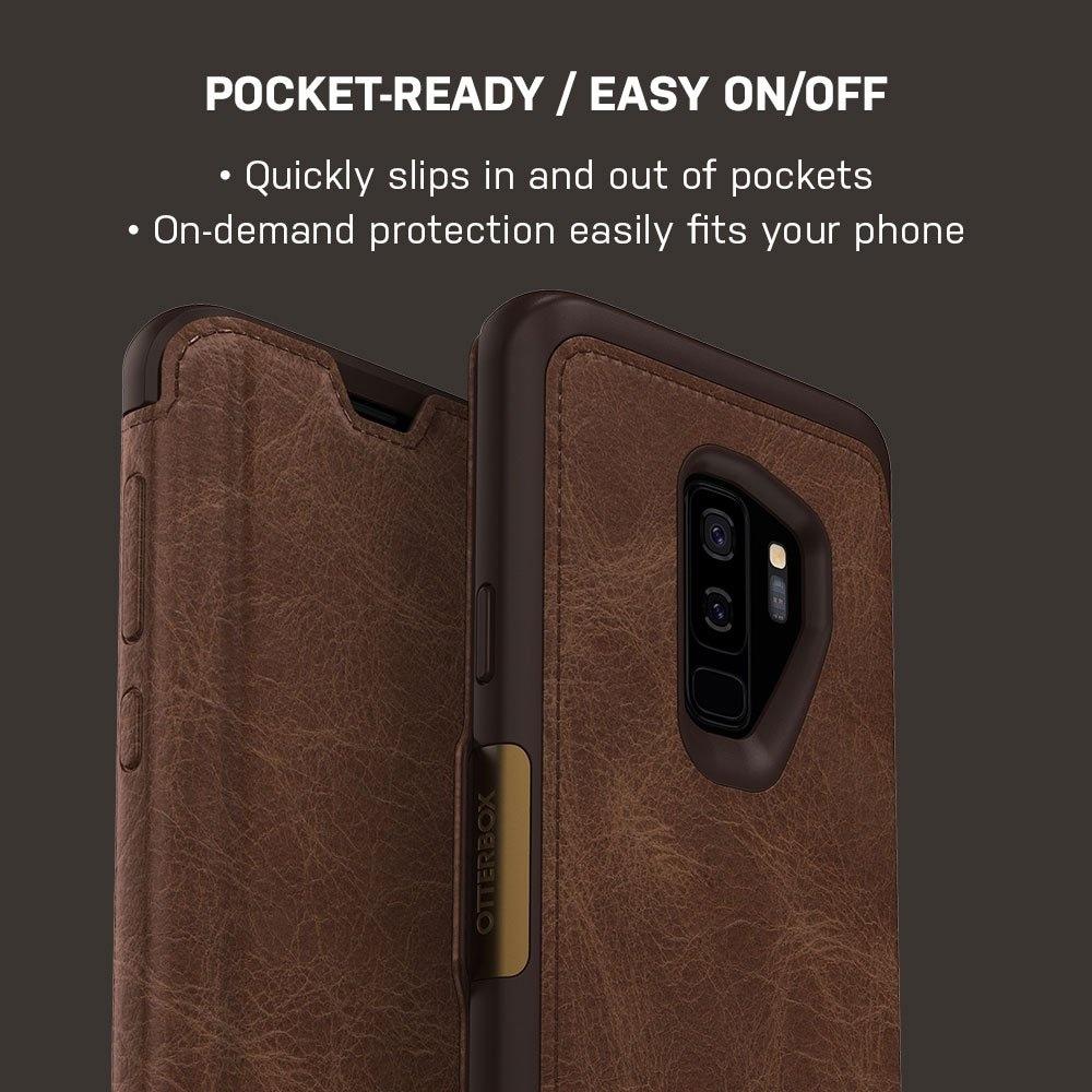 best website 6fd57 debb1 OtterBox Strada Series Leather Folio Case For Samsung Galaxy S9 PLUS (NOT  S9) - Espresso