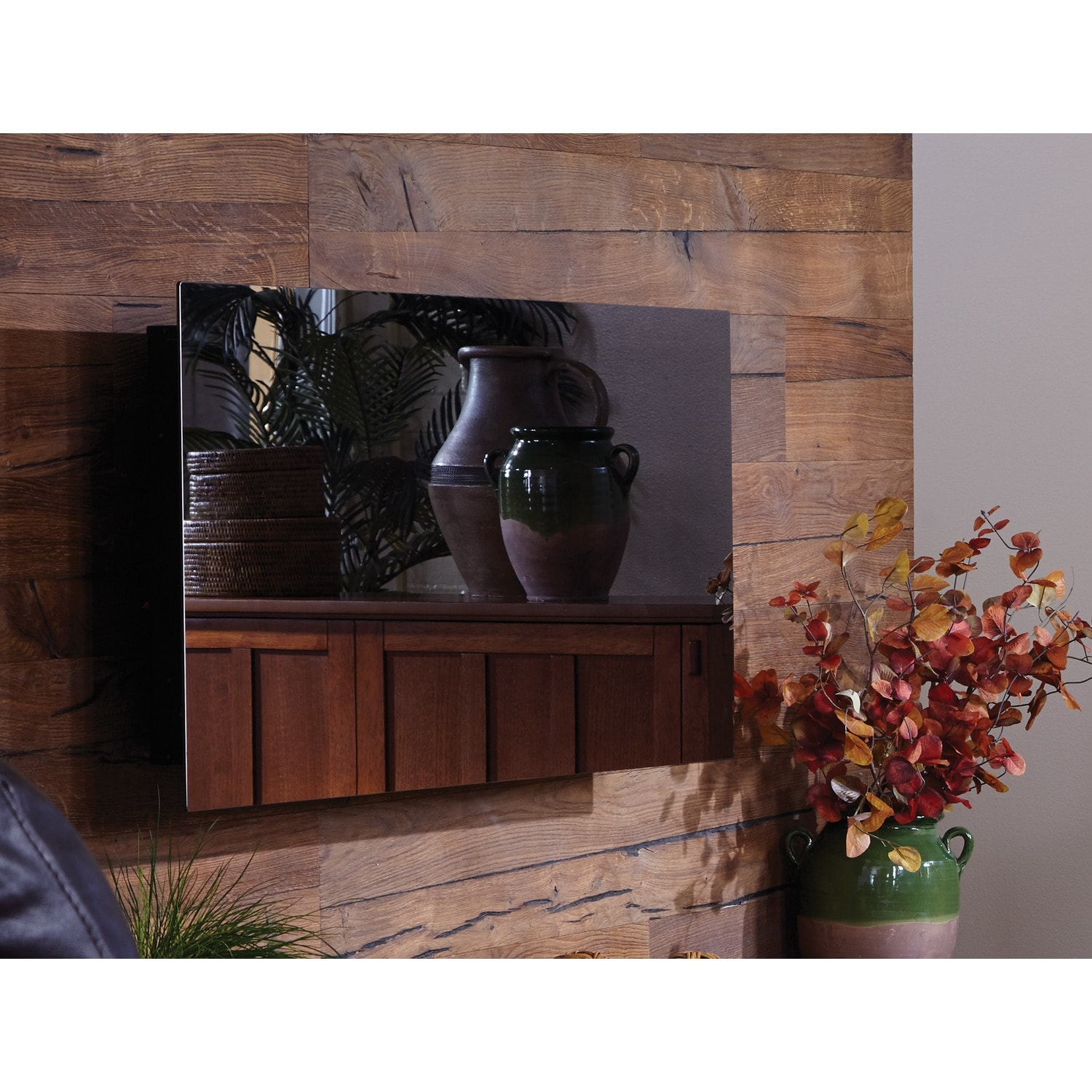 Shop Touchstone 80008 Mirror Onyx Electric Fireplace   Free Shipping Today    Overstock.com   15320731
