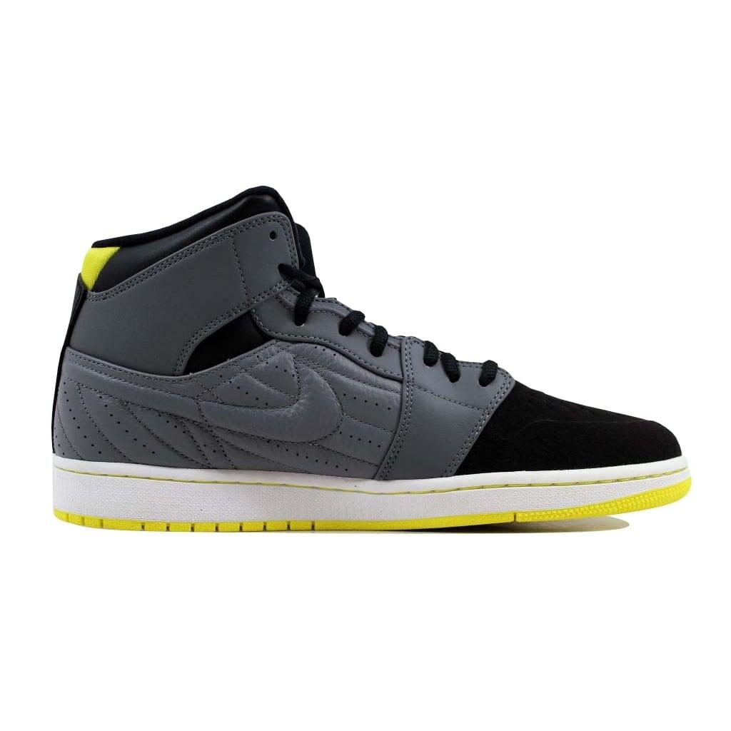 Shop Nike Men s Air Jordan I 1 Retro  99 Cool Grey Vibrant Yellow-Black- White 654140-032 - Free Shipping Today - Overstock - 22531325 5b49b827a