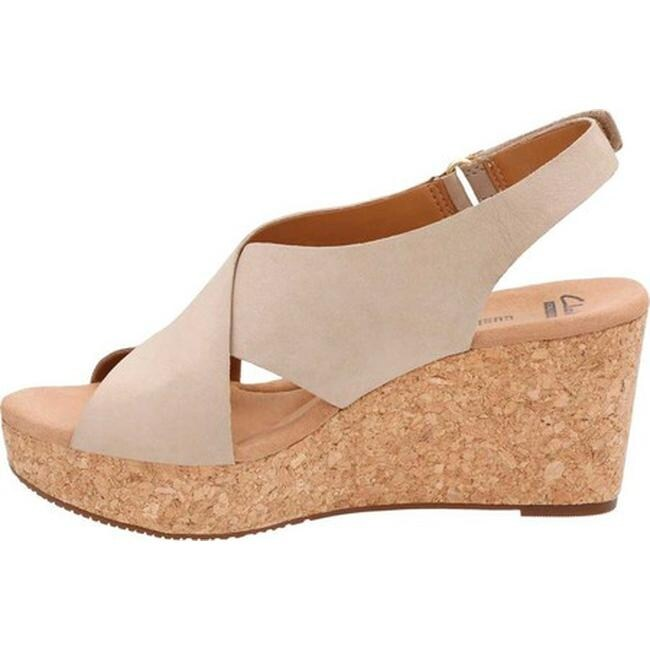 a6d6a861d422 Shop Clarks Women s Annadel Eirwyn Slingback Wedge Sandal Sand Nubuck - On  Sale - Free Shipping Today - Overstock - 14272023