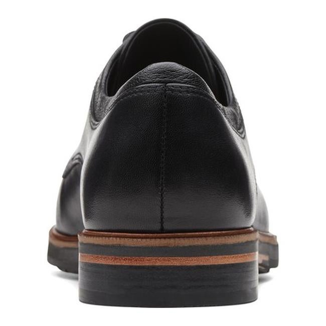 a0bbc6175db8 Shop Clarks Women s Frida Derby Oxford Black Leather - Free Shipping Today  - Overstock - 25642261
