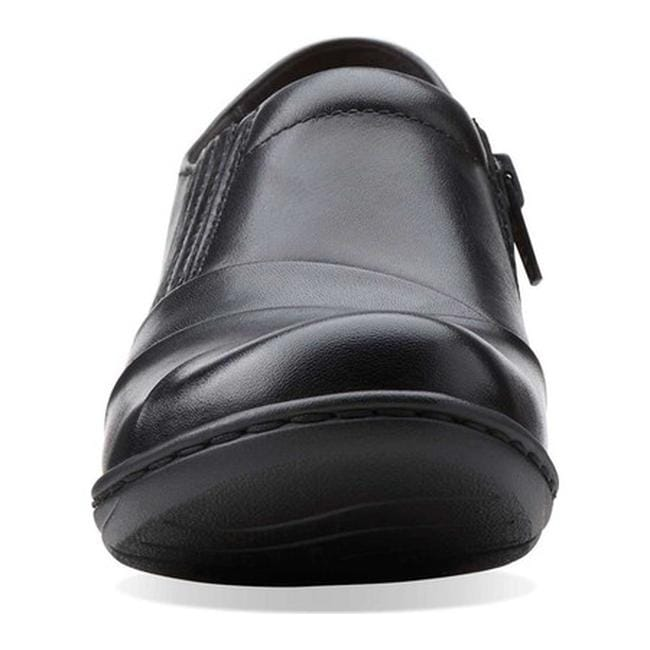 94fb4ca7b13 Shop Clarks Women s Channing Essa Black Leather - Free Shipping Today -  Overstock.com - 11784811