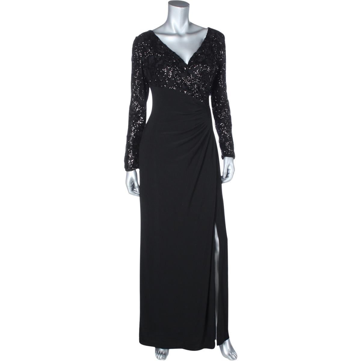 Shop Lauren Ralph Lauren Womens Lylina Evening Dress Sequined Ruched - Free  Shipping On Orders Over $45 - Overstock.com - 14744161
