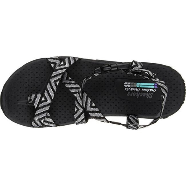 f19427a80ab8 Shop Skechers Women s Reggae Haystack Ankle Strap Sandal Black Gray - Free  Shipping On Orders Over  45 - Overstock - 13165849