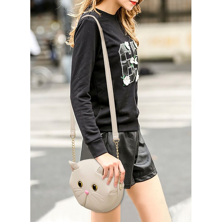 f384115420f Shop QZUnique Women's Cute Cat Shaped Crossbody Bag Cat Head Handbag PU  Leather Shoulder Bag - On Sale - Free Shipping On Orders Over $45 -  Overstock - ...