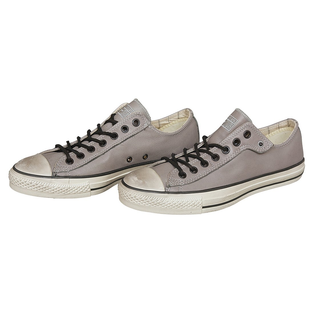 42e4885f5594 Shop John Varvatos Converse Chuck Taylor Oxford Gray Leather Sneakers Size  9.5 - Free Shipping Today - Overstock - 22704634
