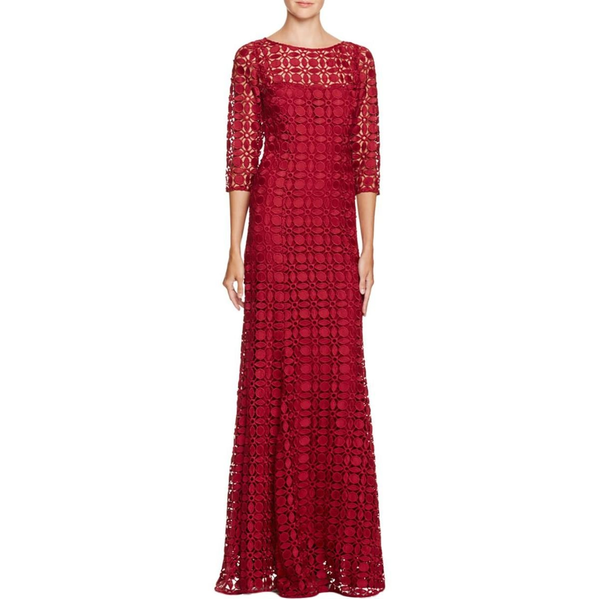 Shop Kay Unger Womens Formal Dress Lace 3/4 Sleeve - Free Shipping ...