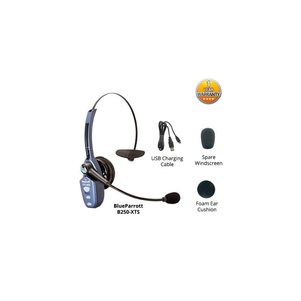 c2e28ba31de Shop VXI BlueParrott B250-XTS Wireless Bluetooth Headset w/ Xtreme noise  suppression Technology - Free Shipping Today - Overstock - 19755573