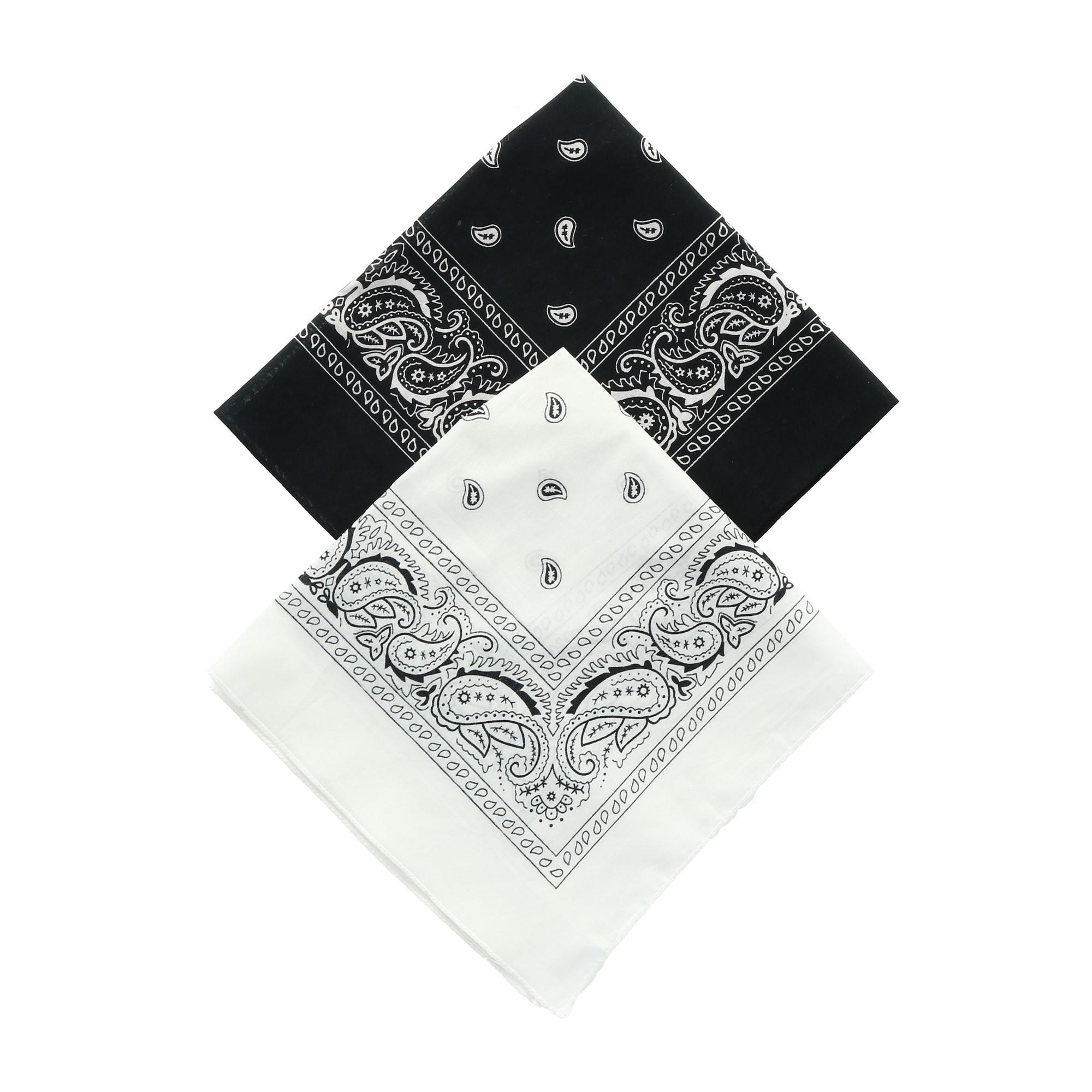 Shop Umo Lorenzo Black and White Duo Bandana Pack Pack of 2 e