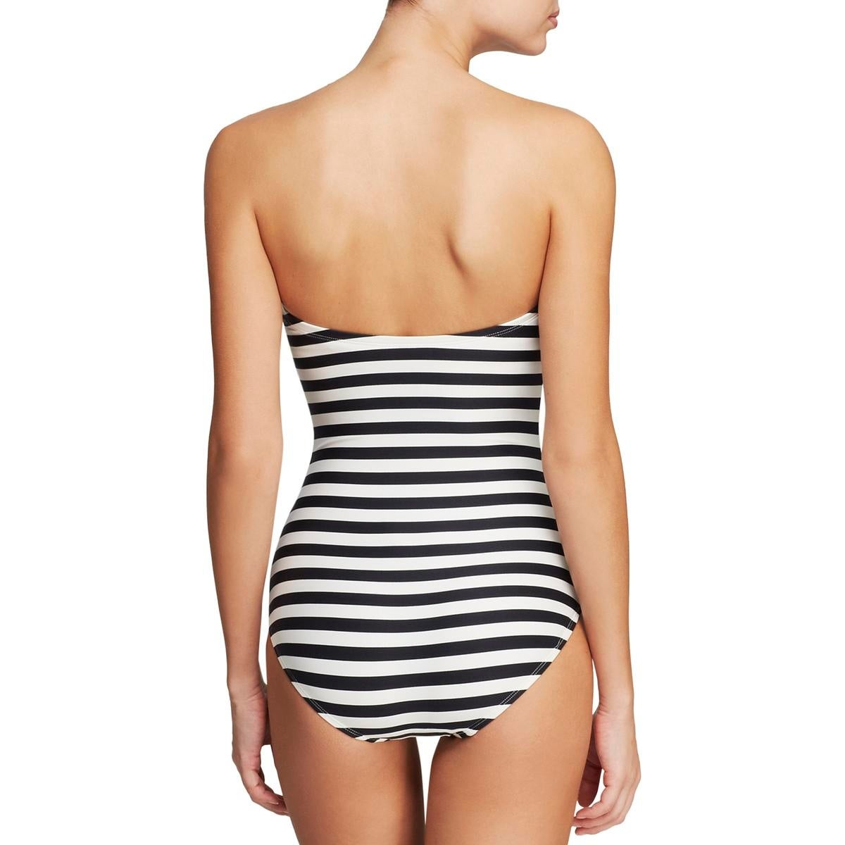 549ba68f291eb Shop Kate Spade Womens Georgia Beach Bandeau Striped One-Piece Swimsuit - L  - Free Shipping On Orders Over $45 - Overstock - 21956189