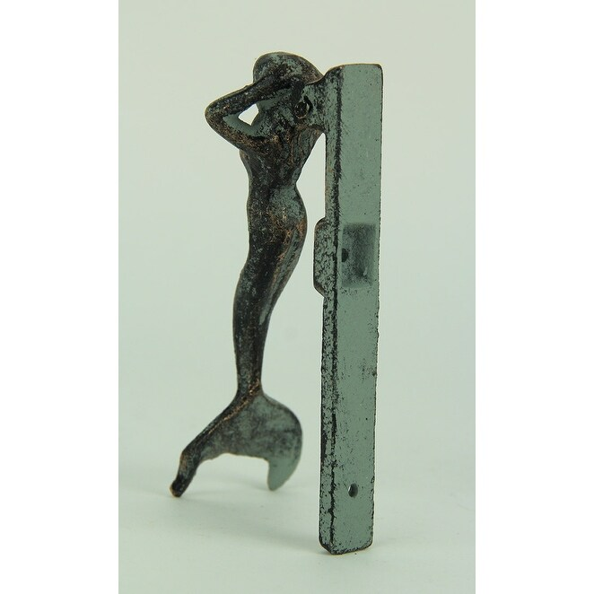 Bon Shop Vintage Style Cast Iron Coastal Mermaid Door Knocker   Free Shipping  On Orders Over $45   Overstock.com   23105827