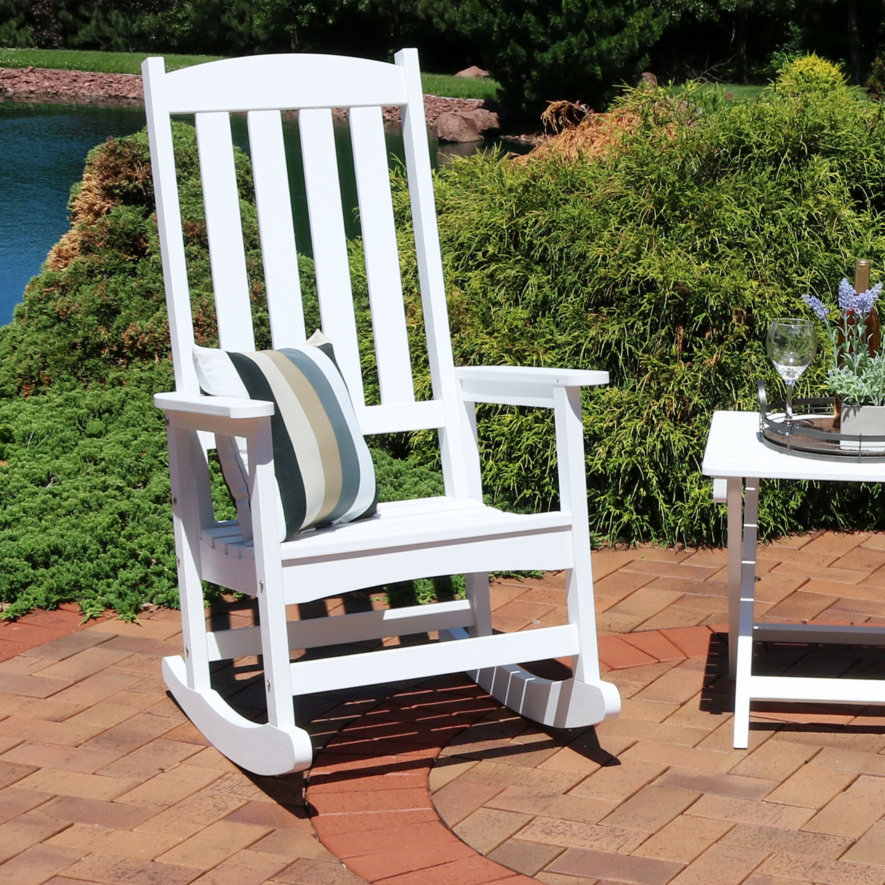 Charmant Shop Sunnydaze All Weather Rocking Chair With Faux Wood Design   Multiple  Colors   Free Shipping Today   Overstock.com   22966931