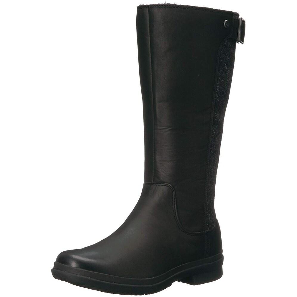 e7e7306866c Ugg Womens Janina Leather Closed Toe Knee High Fashion Boots