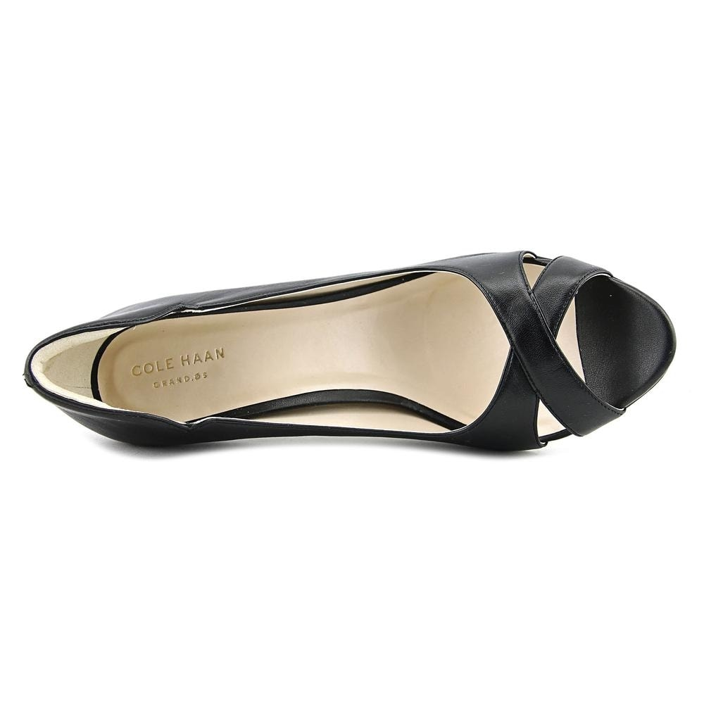 e0ef1a40c9f2 Shop Cole Haan Jacinda GD OPT Peep-Toe Synthetic Heels - Free Shipping  Today - Overstock - 17155472