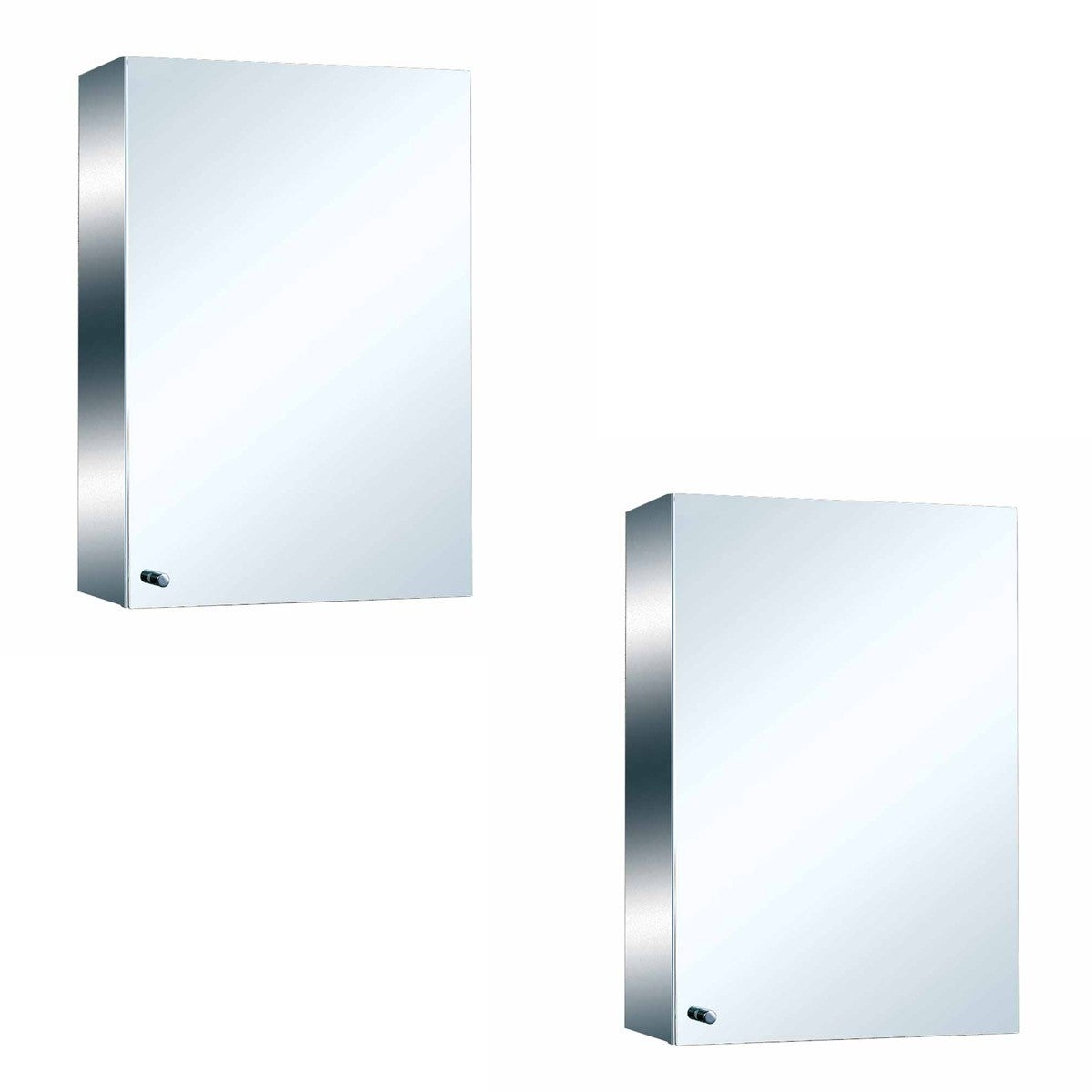 Shop 22 Stainless Steel Medicine Cabinet Mirror Wall Mount Set Of 2