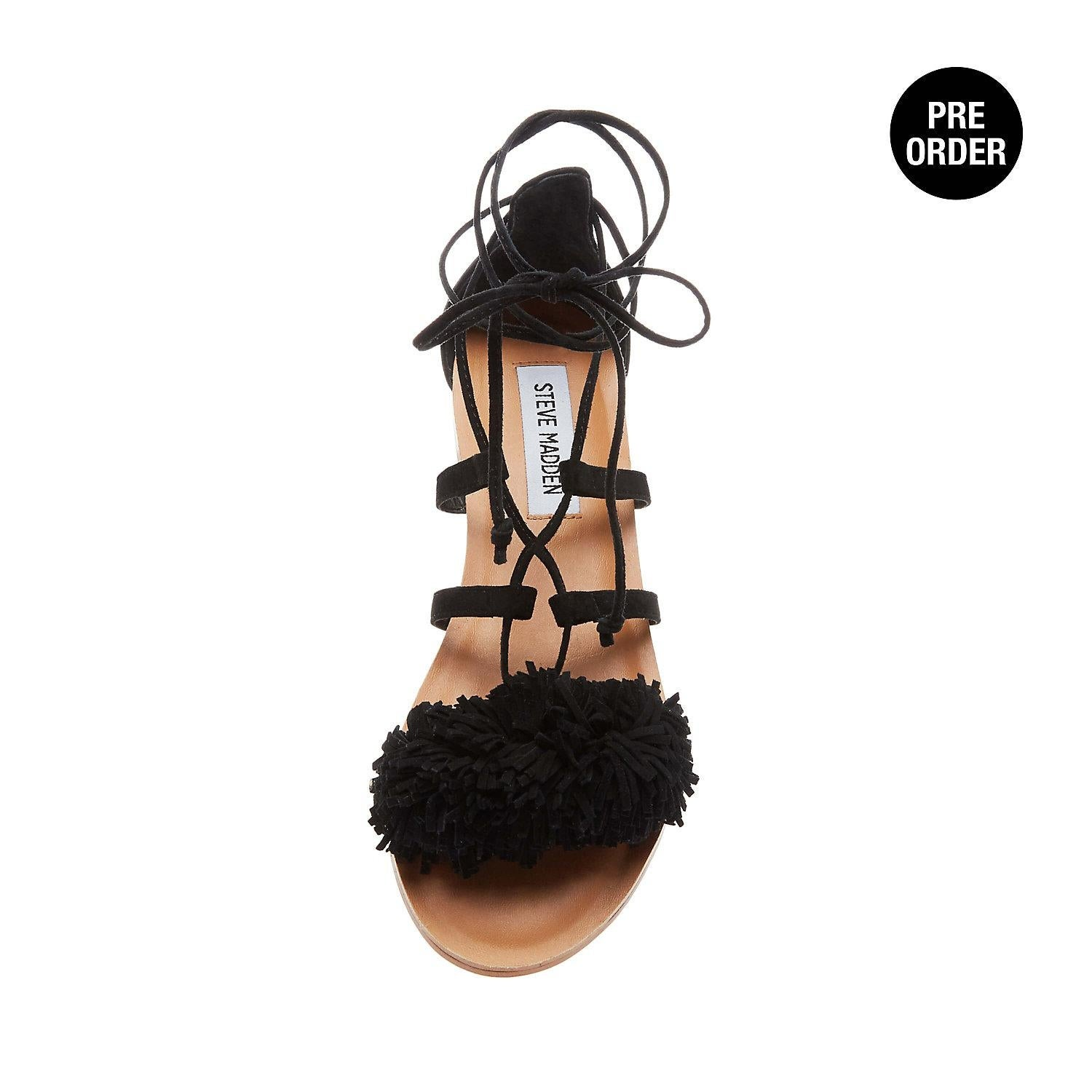 c50163d2badd61 Shop Steve Madden Womens Swizzle Leather Open Toe Casual Strappy Sandals -  Free Shipping On Orders Over  45 - Overstock.com - 19857308