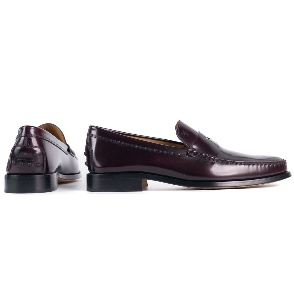 362ec84210b Shop Tod s Burgundy New Devon Polished Leather Penny Loafers - Free  Shipping Today - Overstock - 20114063