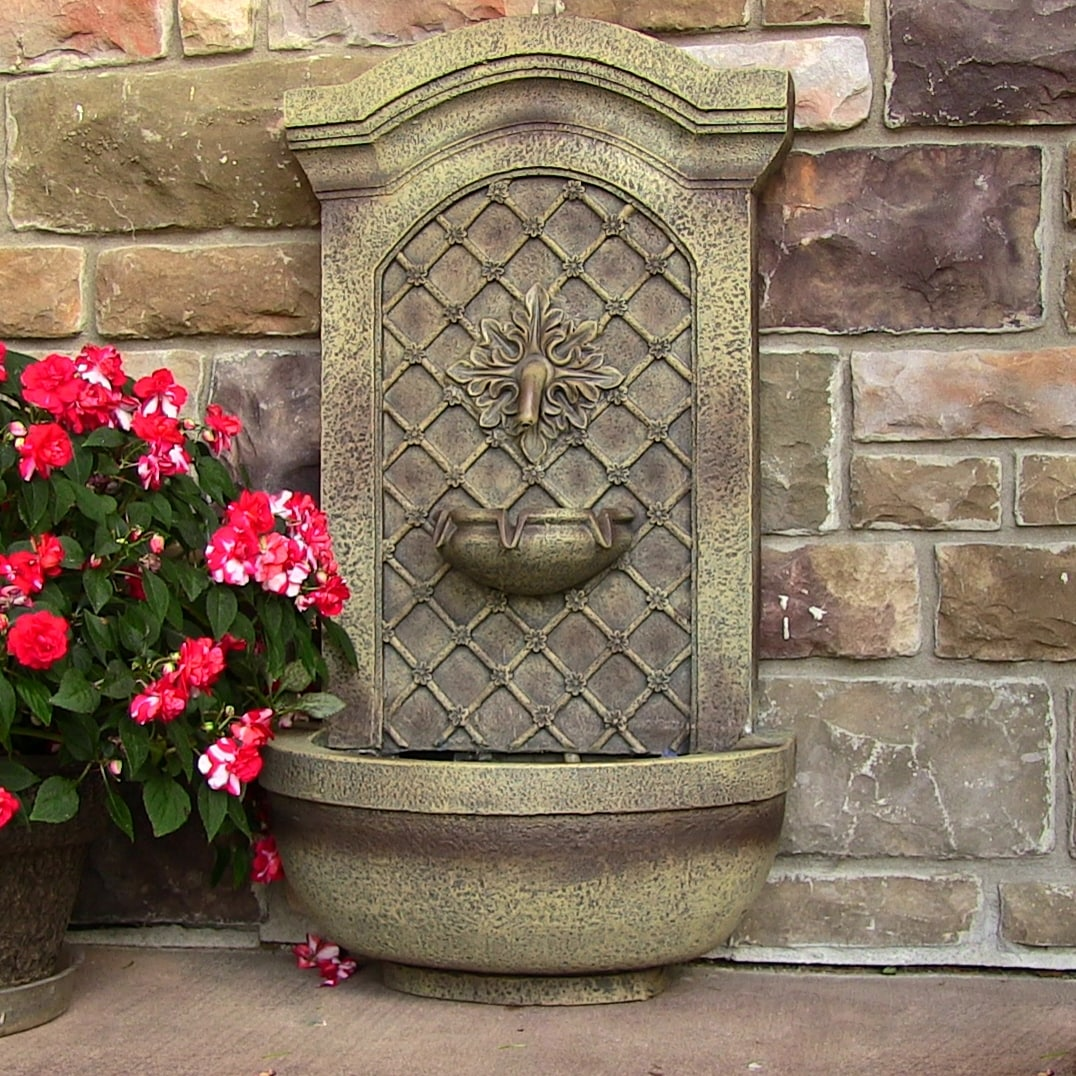Sunnydaze Rosette Solar Wall Fountain   Free Shipping Today   Overstock.com    18533974