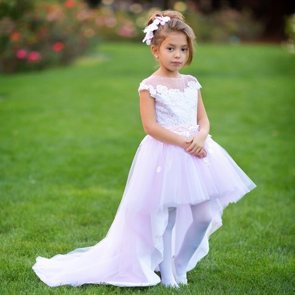4e81728e2a White And Pink Tulle Flower Girl Dress - Gomes Weine AG