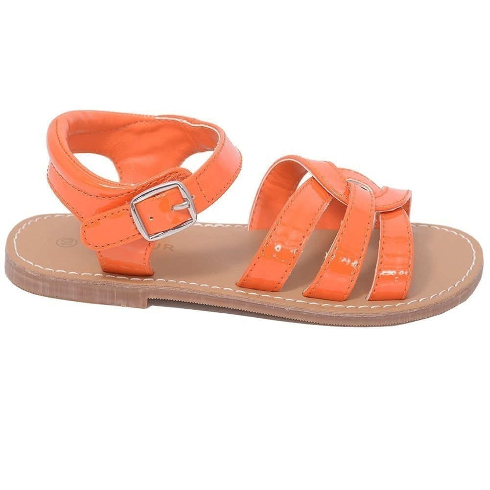 1c9408c1a Shop L Amour Patent Orange Woven Strap Summer Sandals Little Girls 11-4 -  Free Shipping On Orders Over  45 - Overstock - 25599861