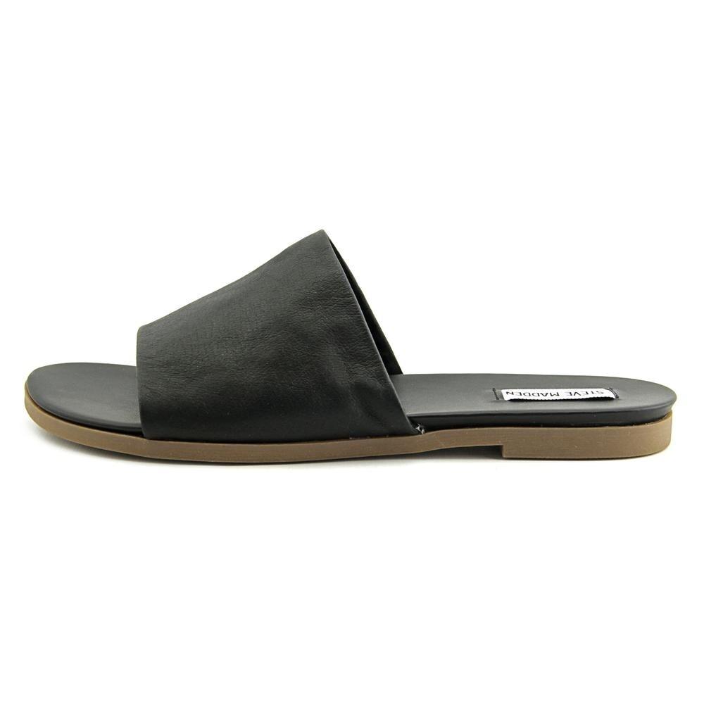 3c955e5cb28 Shop Steve Madden Karolyn Women Open Toe Leather Black Slides Sandal - Free  Shipping On Orders Over  45 - Overstock - 19668702