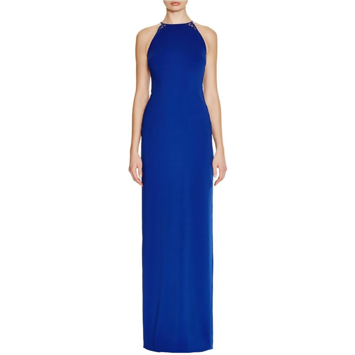 92ae7b10e8 Shop Badgley Mischka Womens Evening Dress Lattice Back High Neck - Free  Shipping Today - Overstock - 15889694