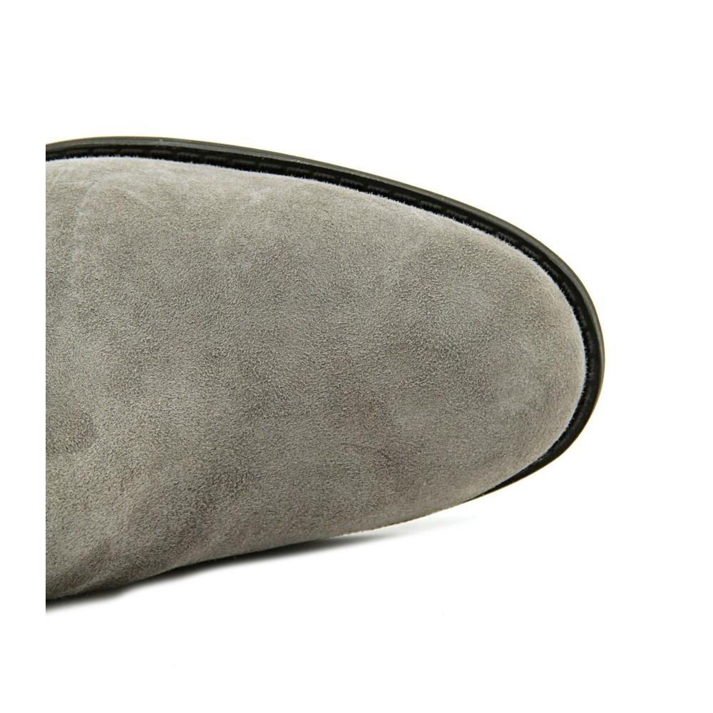 2c2f0a18d51 Shop Cole Haan Valentia Women Round Toe Suede Gray Over the Knee ...